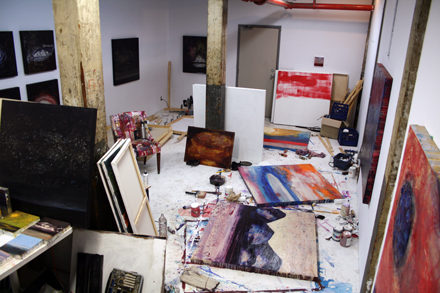Studio of artist Gareth Bate in Toronto